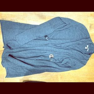 Blue grey cardigan sweater